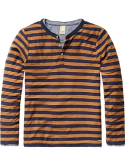 Scotch & Soda - 2-in-1 Grandad T-Shirt
