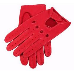 Dents - Berry Deerskin Leather Driving Gloves