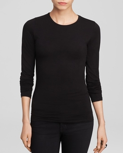 Majestic Filatures  - Long Sleeve Crew Neck Tee