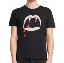 Saint Laurent - Blood Luster Printed Cotton Tee Shirt