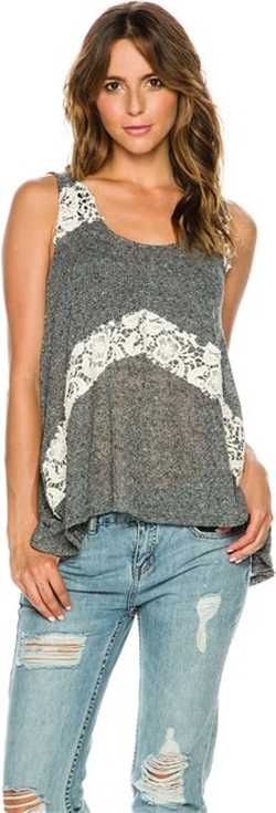 Swell  - Banter Lace Detail Tank Top