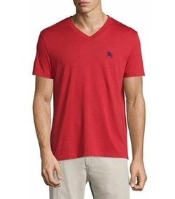 Burberry - Lindon Cotton V-Neck T-Shirt