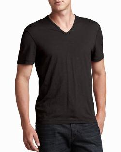 John Varvatos Star USA  - V-Neck Tee, Black