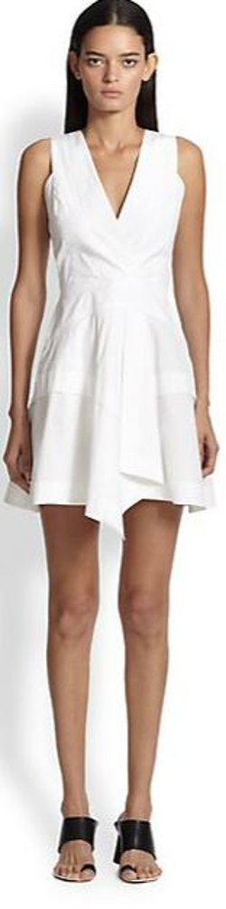 Proenza Schouler  - Poplin Crossover Dress