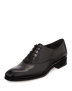 Salvatore Ferragamo  - Fedele Calfskin Lace-Up Oxford Shoes