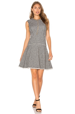 4 Collective - Colorblock Tweed Sheath Dress