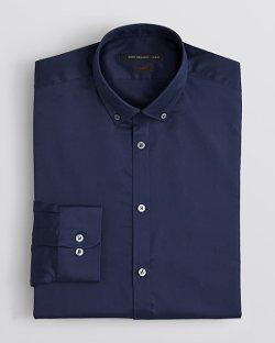 John Varvatos  - Solid Twill Dress Shirt