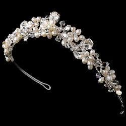 Bridal Phantasy - Classic Freshwater Pearl Tiara Headband