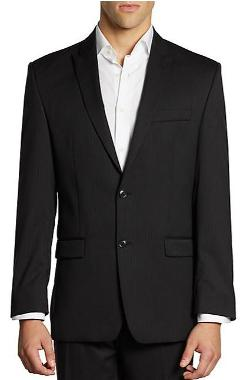 Calvin Klein - Classic-Fit Pinstriped Wool Jacket