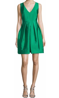 ERIN  - Sleeveless Pleated Taffeta Mini Dress