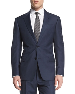 Armani Collezioni - G-Line Solid Two-Piece Wool Suit