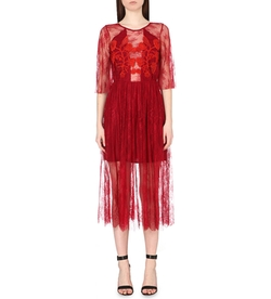 Sandro  - Lace-Embroidered Dress