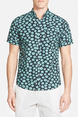 Descendant Of Thieves - Floral Print Woven Shirt
