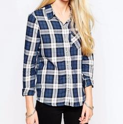 JDY  - Plaid Check Shirt