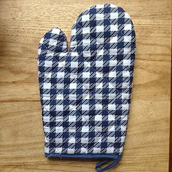 The Best U Want - Blue Plaid Oven Mitts
