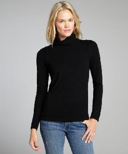 525 AMERICA  - Black Cashmere Turtleneck Long Sleeve Sweater