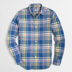 J. Crew - SLIM WASHED SHIRT IN SUMMER PLAID