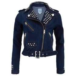 Diesel - Denim Biker Studded Jacket