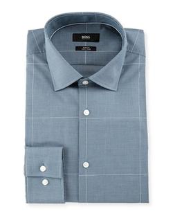 Boss Hugo Boss - Juan Mini-Check with Windowpane Slim-Fit Dress Shirt