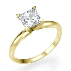 Houston Diamond District - Princess Cut Diamond Solitaire Engagement