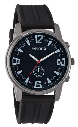 Ferretti - Black Rubber Band and Gunmetal Case Watch