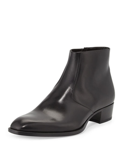 Saint Laurent - Wyatt Leather Ankle Boots
