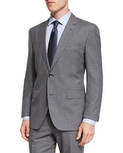 Boss Hugo Boss  - Johnstons Lennon Melange Plaid Suit