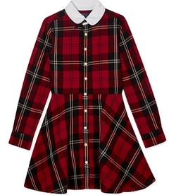 Ralph Lauren - Fit And Flare Plaid Shirt Dress