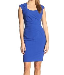 Calvin Klein - Cap-Sleeve Side-Ruched Sheath Dress