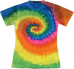 Buy Cool Shirts - Womens Sublimation Shirt Multi Rainbow Swirl Tie Dye T-Shirt