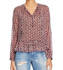 Scotch & Soda - Floral Print Peplum Blouse