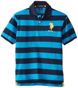 U.S. Polo Assn. - Boys Striped Pique Polo Shirt