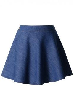 Chicwish - Denim Skater Skirt