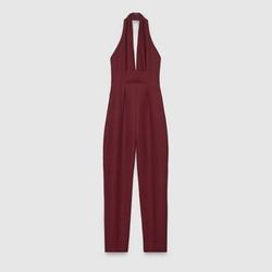 Gucci - Silk V-Neck Jumpsuit