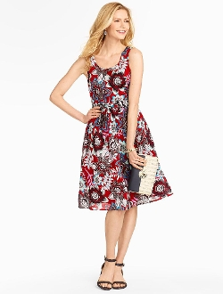 Talbots - Jacobean Floral Dress