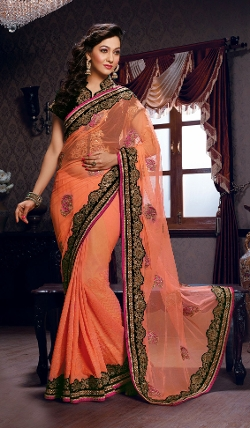 Indian Fashion Trend - Soft Net Georgette Saree