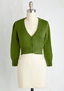 Mod Cloth - Quarter Sleeve Crop Cardigan