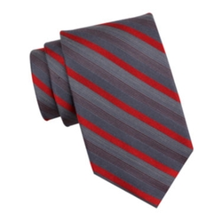 Collection By Michael Strahan  - Heather Stripe Silk Tie