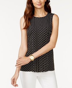 Michael Kors - Polka-Dot Pleated Blouse