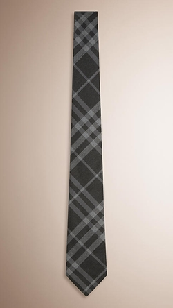 Burberry - Check Silk Cotton Tie