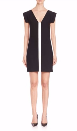 Versace Collection  - Cap-Sleeve Colorblock Dress
