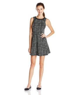 Eric + Lani - Juniors Tweed Ponte Dress