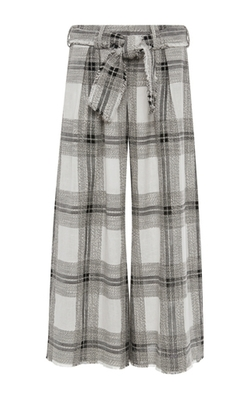 Zimmermann - Empire Raw Cotton And Linen Plaid Lounge Pants