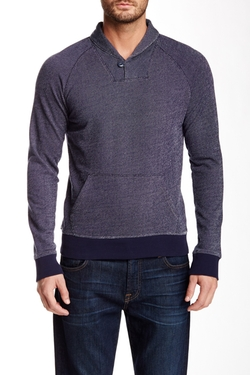 1901 - French Terry Shawl Collar Popover Sweater