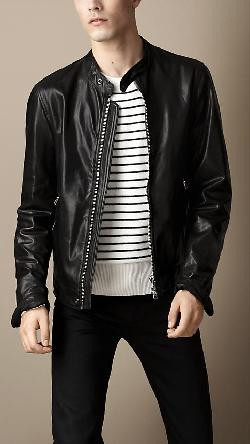 Burberry - SOFT LEATHER RACER JACKET