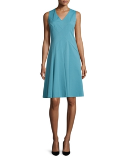 Lafayette 148 New York  - Emery Sleeveless V-Neck Dress