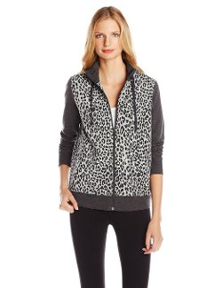 Jones New York  - Animal Print Mock Neck Jacket
