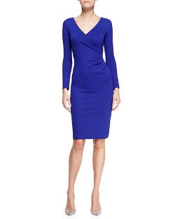 Armani Collezioni - Jersey Surplice-Neck Long-Sleeve Dress
