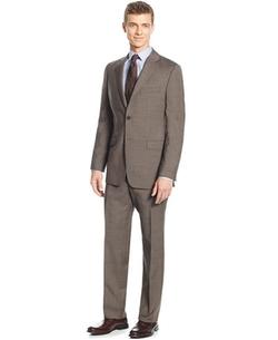 Lauren Ralph Lauren  - Slim-Fit Mid Brown Glenplaid Suit