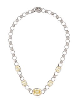 Judith Ripka Jr  - Two Canary Crystal Necklace
